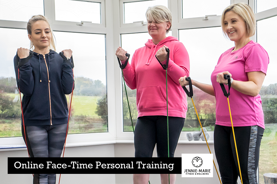 Online face-time personal training with Jennie-Marie